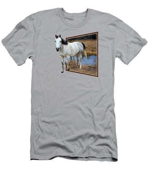 Horsing Around Men's T-Shirt (Slim Fit) by Shane Bechler