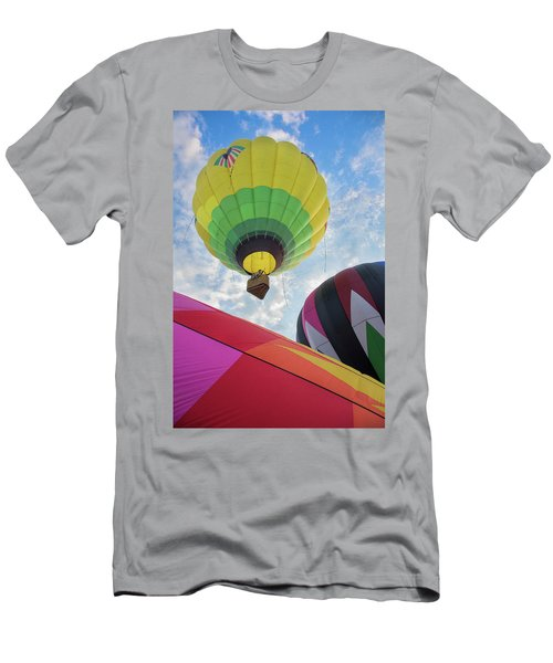 Hot Air Balloon Takeoff Men's T-Shirt (Athletic Fit)