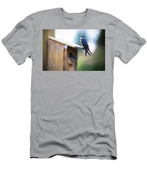 Men's T-Shirt (Athletic Fit) featuring the photograph House Of Bluebirds by James BO Insogna