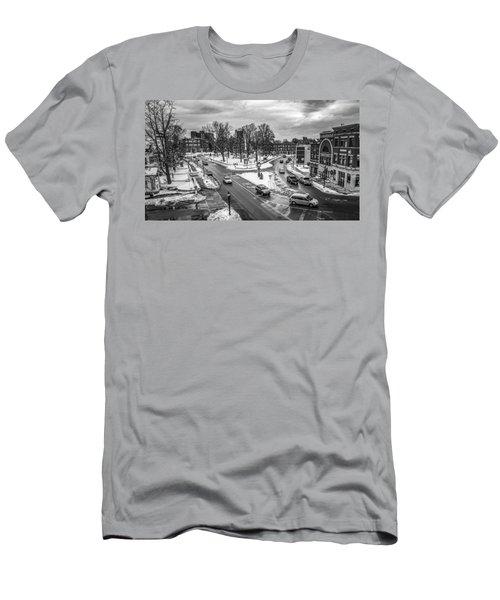 Hudson Falls Business District Men's T-Shirt (Athletic Fit)
