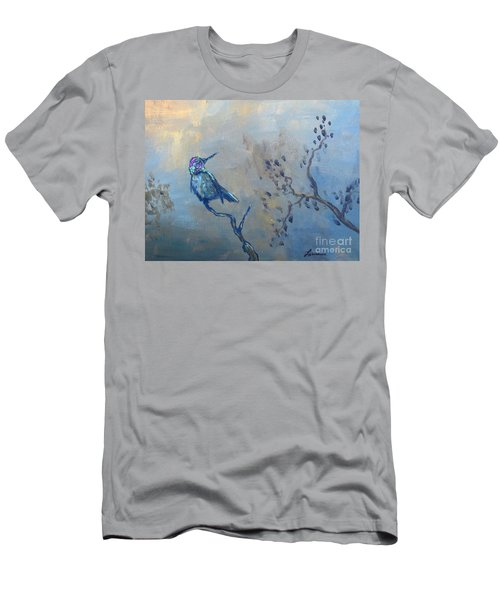 Men's T-Shirt (Slim Fit) featuring the painting Humming Bird by Laurianna Taylor