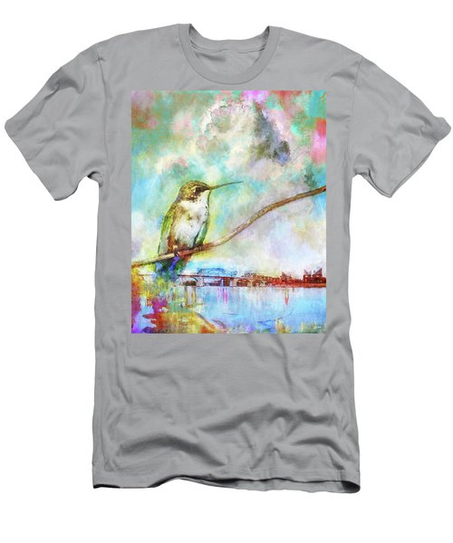 Hummingbird By The Chattanooga Riverfront Men's T-Shirt (Slim Fit) by Steven Llorca