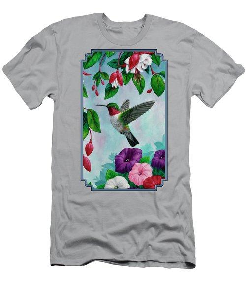 Hummingbird Greeting Card 1 Men's T-Shirt (Athletic Fit)