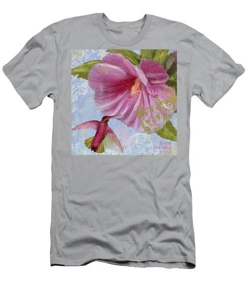 Hummingbird Hibiscus I Men's T-Shirt (Athletic Fit)
