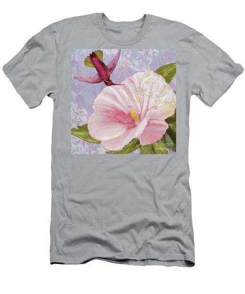 Hummingbird Hibiscus II Men's T-Shirt (Athletic Fit)