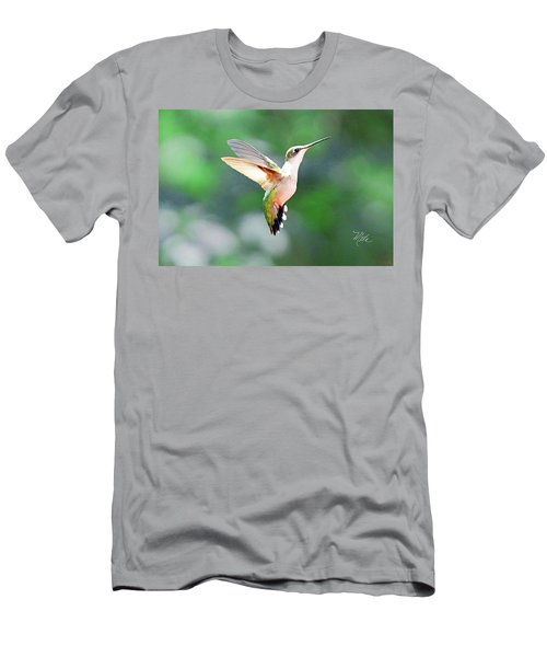 Hummingbird Hovering Men's T-Shirt (Slim Fit) by Meta Gatschenberger