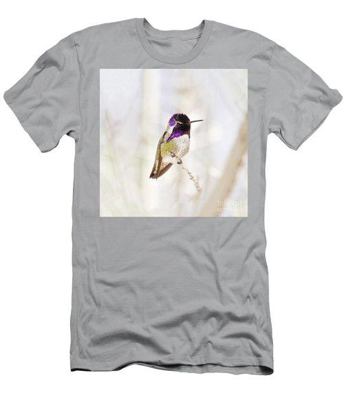 Hummingbird Larger Background Men's T-Shirt (Slim Fit) by Rebecca Margraf