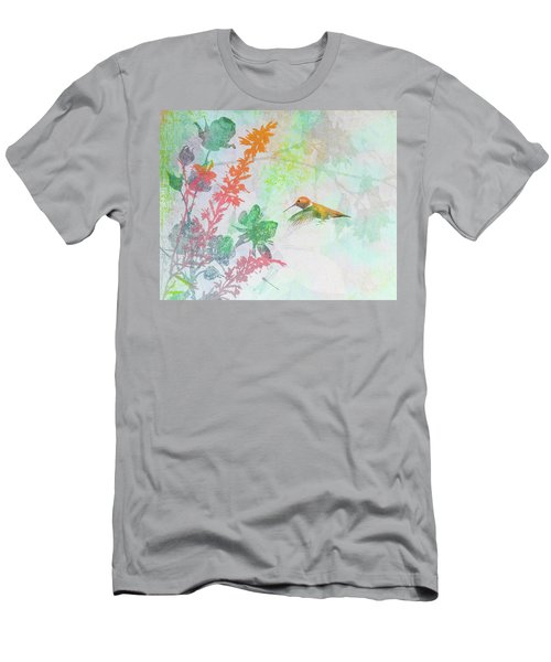 Men's T-Shirt (Slim Fit) featuring the digital art Hummingbird Summer by Christina Lihani