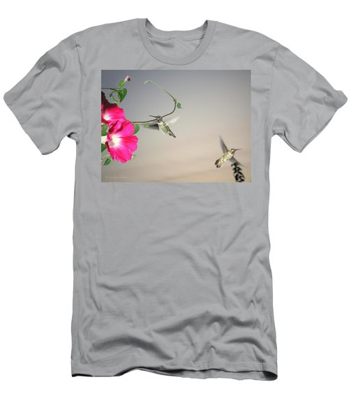 Men's T-Shirt (Slim Fit) featuring the photograph Hummingbirds Coming And Going by Joyce Dickens