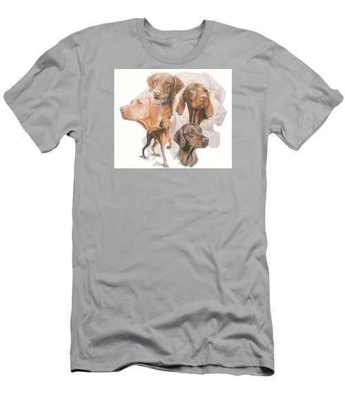 Hungarian Vizsla W/ghost Men's T-Shirt (Slim Fit) by Barbara Keith