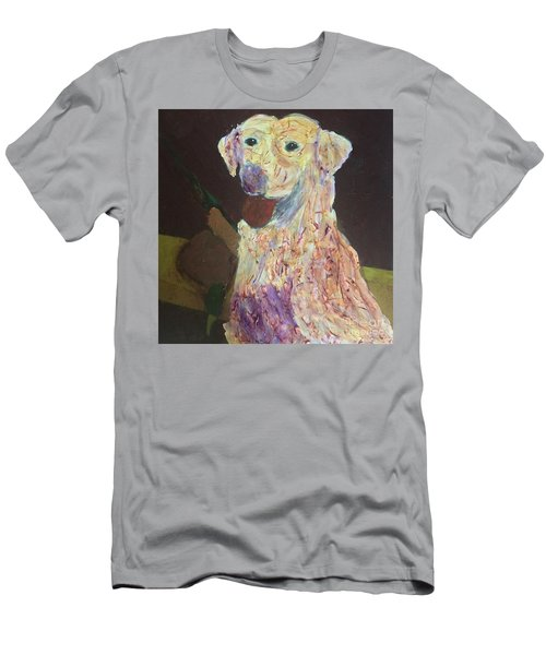 Men's T-Shirt (Athletic Fit) featuring the painting Hunting Dog by Donald J Ryker III