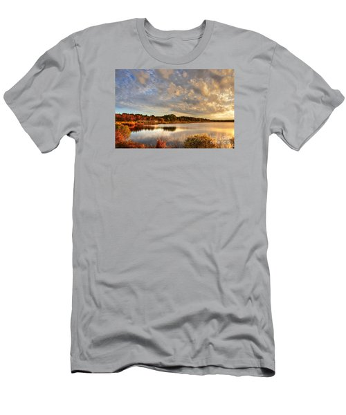 Huntington Beach At Dusk Men's T-Shirt (Athletic Fit)