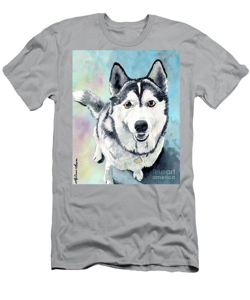 Husky Dog Love, Husky Painting, Husky Print, Dog Painting, Dog Print Men's T-Shirt (Athletic Fit)