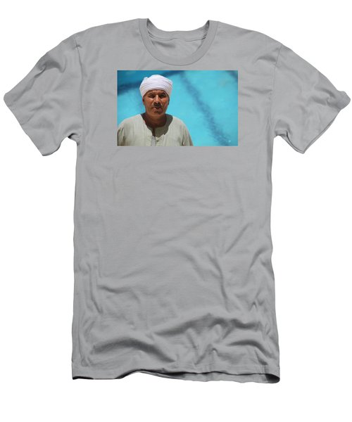 Men's T-Shirt (Slim Fit) featuring the photograph I Am The Pool Man by Jez C Self