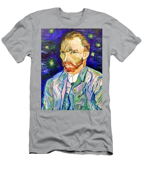 Men's T-Shirt (Slim Fit) featuring the painting I Dream My Painting And I Paint My Dream by Belinda Low