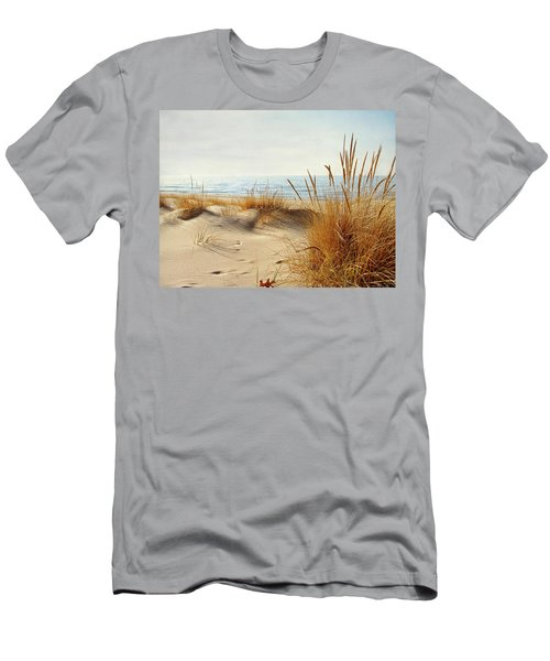 Men's T-Shirt (Slim Fit) featuring the photograph I Hear You Coming  by Kathi Mirto