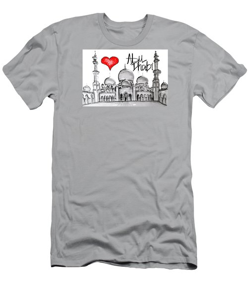 I Love Abu Dhabi Men's T-Shirt (Slim Fit) by Sladjana Lazarevic