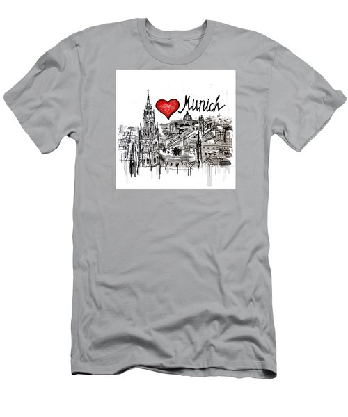 I Love Munich Men's T-Shirt (Slim Fit) by Sladjana Lazarevic
