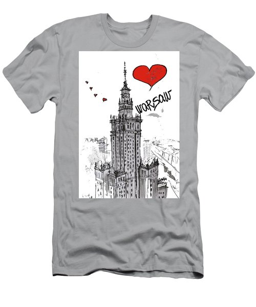 I Love Warsaw Men's T-Shirt (Slim Fit) by Sladjana Lazarevic