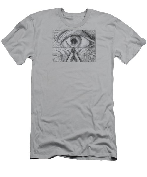 Men's T-Shirt (Athletic Fit) featuring the drawing I Shadow by Charles Bates