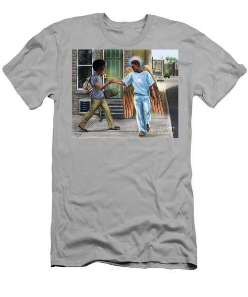 I Walk With Angels Men's T-Shirt (Athletic Fit)