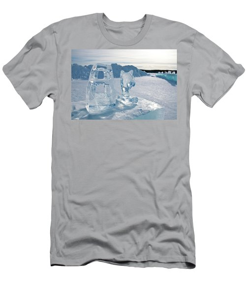 Ice Sculpture Men's T-Shirt (Slim Fit) by Tamara Sushko