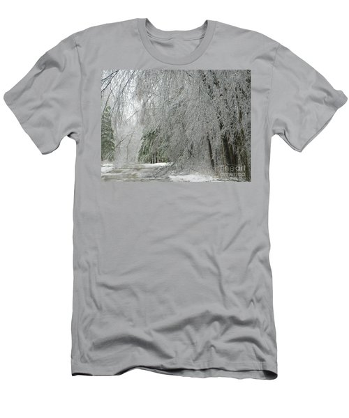 Icy Street Trees Men's T-Shirt (Athletic Fit)