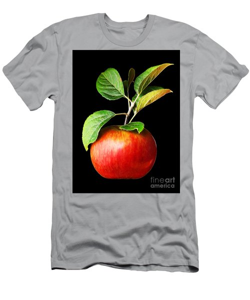 Ida Red Apple And Leaves Men's T-Shirt (Slim Fit) by Wernher Krutein
