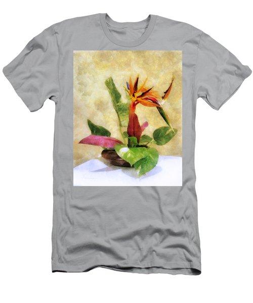 Ikebana Bird Of Paradise Men's T-Shirt (Athletic Fit)