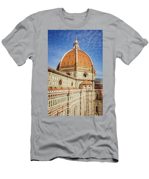 Men's T-Shirt (Slim Fit) featuring the photograph Il Duomo Florence Italy by Joan Carroll