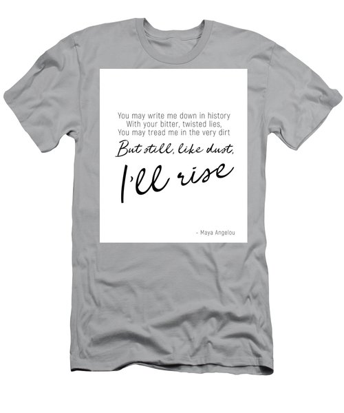 I'll Rise #minimalism Men's T-Shirt (Athletic Fit)