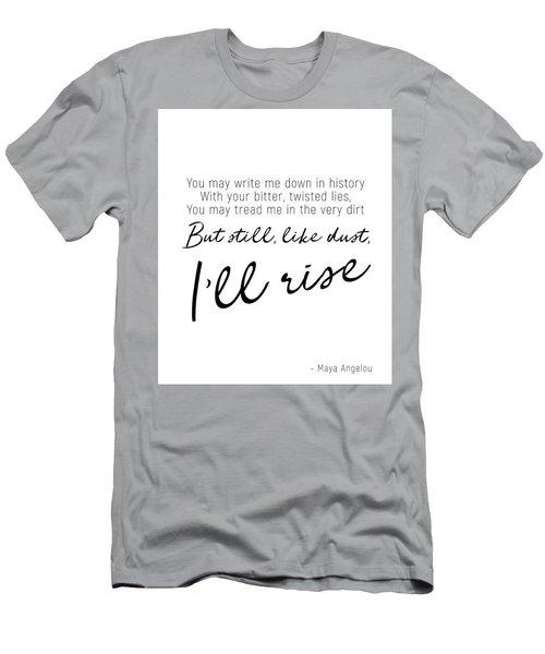 I'll Rise #minimalism Men's T-Shirt (Athletic Fit)