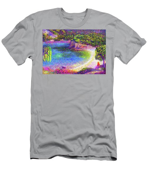 Imagine, Meditating In Beautiful Bay,seascape Men's T-Shirt (Athletic Fit)