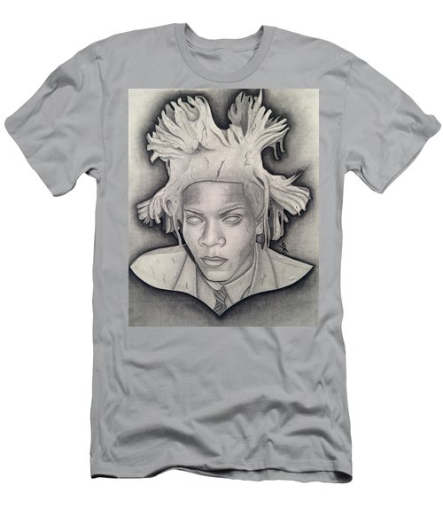 Immortalizing In Stone Jean Michel Basquiat Drawing Men's T-Shirt (Athletic Fit)