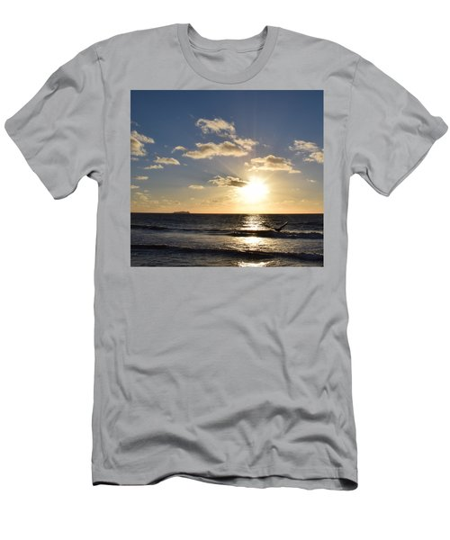 Sunset Reflection At Imperrial Beach Men's T-Shirt (Athletic Fit)