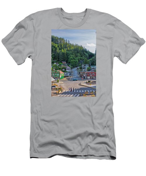 Men's T-Shirt (Slim Fit) featuring the photograph In The Crosswalk by Lewis Mann