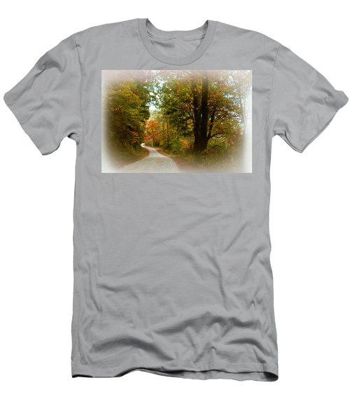 Men's T-Shirt (Slim Fit) featuring the digital art In The Mountains Of Georgia by Sharon Batdorf