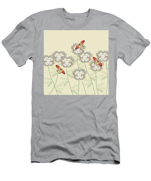 Incendia Flower Garden Men's T-Shirt (Slim Fit) by Rosalie Scanlon