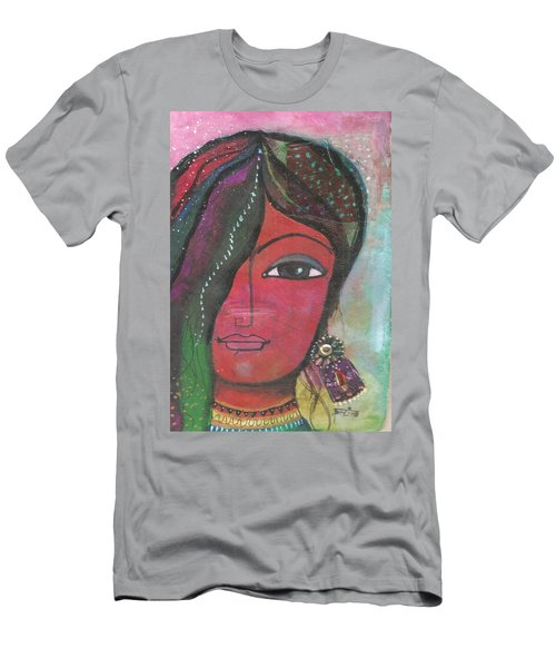 Indian Woman Rajasthani Colorful Men's T-Shirt (Athletic Fit)