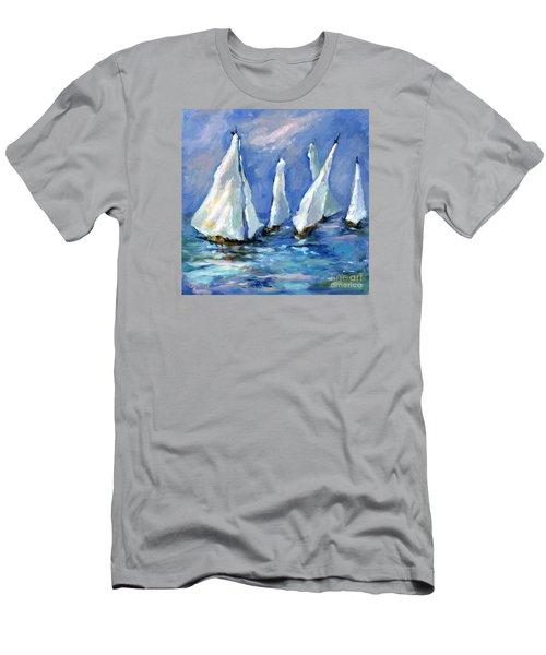 Indigo Seas Men's T-Shirt (Slim Fit) by Sharon Furner