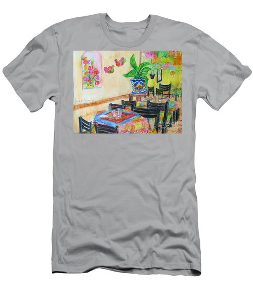 Indoor Cafe - Gifted Men's T-Shirt (Slim Fit) by Judith Espinoza