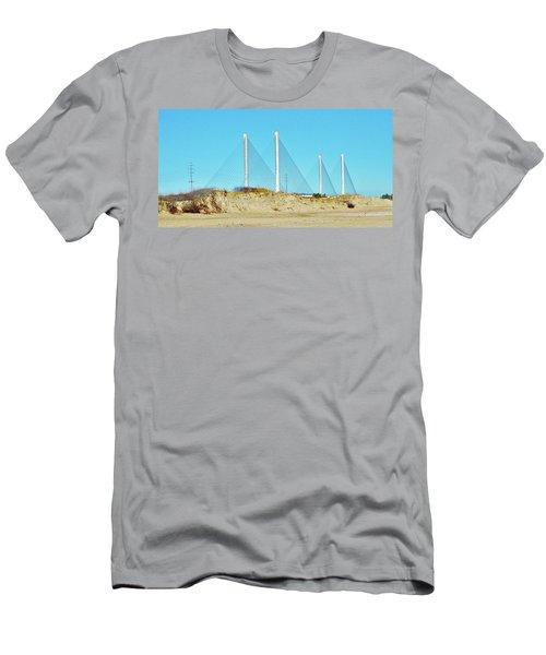 Inlet Bridge Beach View Men's T-Shirt (Slim Fit) by William Bartholomew