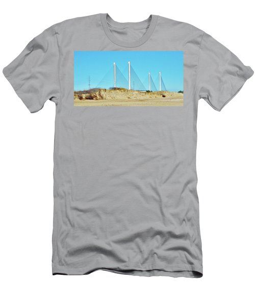 Inlet Bridge Beach View Men's T-Shirt (Athletic Fit)