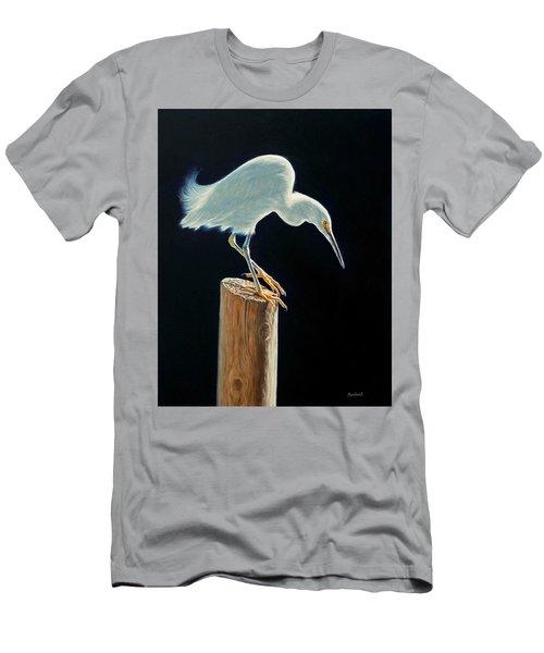 Interlude - Snowy Egret Men's T-Shirt (Athletic Fit)