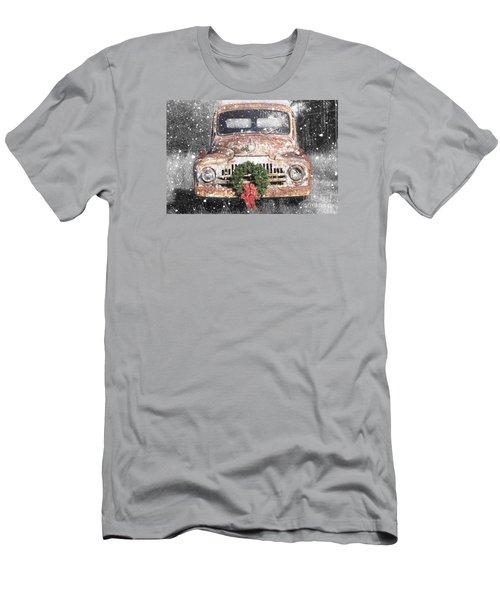 International Christmas Snow Men's T-Shirt (Athletic Fit)