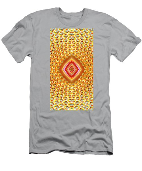 Men's T-Shirt (Athletic Fit) featuring the digital art Into The Centre - Vertical by Wendy Wilton