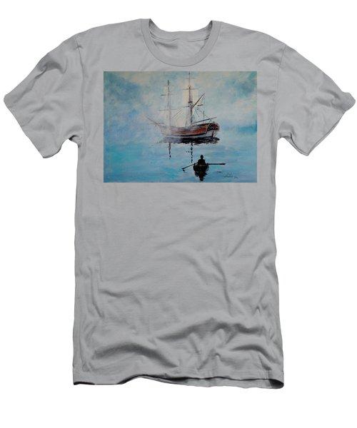 Into The Mist Men's T-Shirt (Slim Fit) by Alan Lakin
