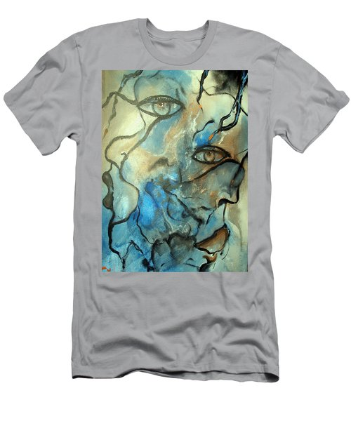 Men's T-Shirt (Slim Fit) featuring the painting Inward Vision by Raymond Doward