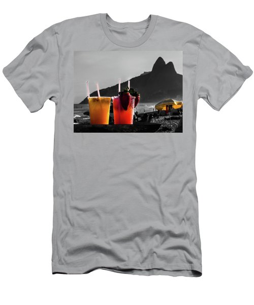Ipanema With Cocktails Men's T-Shirt (Slim Fit) by Cesar Vieira