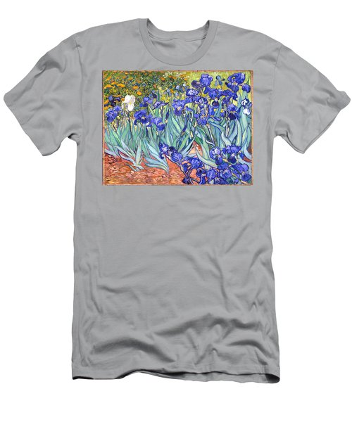 Men's T-Shirt (Athletic Fit) featuring the painting Irises by Van Gogh